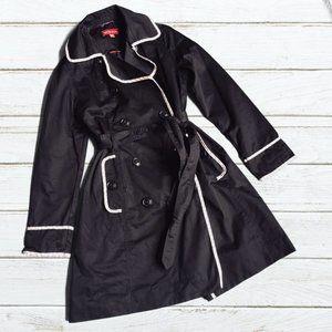 Merona Black Classic Full-length Trench Coat